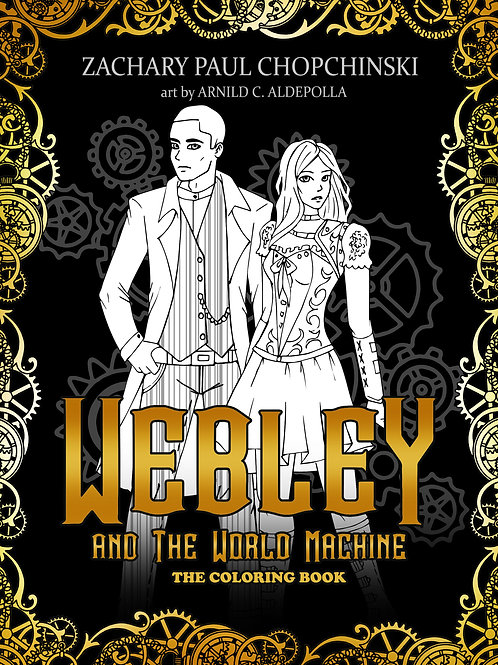 Webley and The World Machine Coloring Book