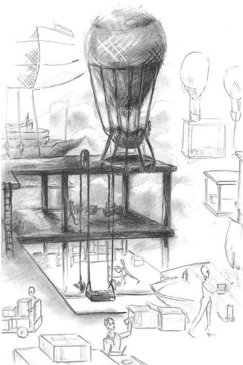 Limited Edition Signed Illustration-The Docks