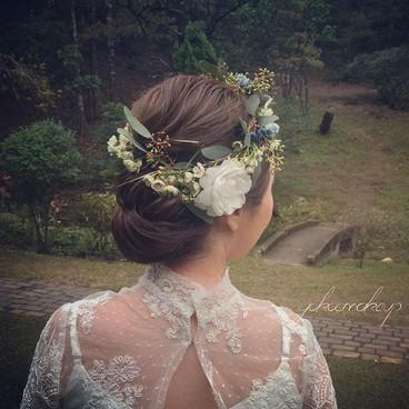 Prewedding makeup _Makeup and hairstyle