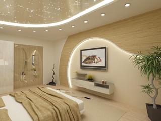 Освещение и натяжной потолок