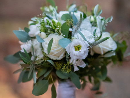 A beautiful, very simple bridal bouquet made this week for a gorgeous bride and groom