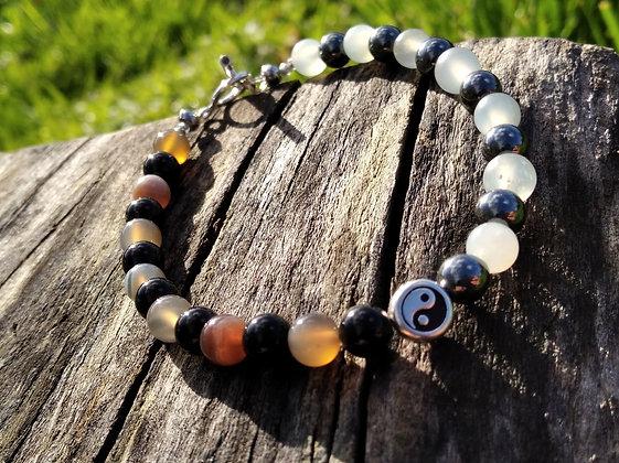 Bracelet  homme yin-yang