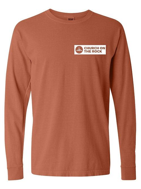 Long-sleeve Burnt Orange with Logo