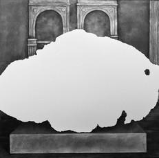 Tomanowos (Willamette Meteorite), display at the American Museum of Natural History, 1906