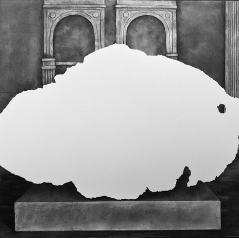 Tomanowos (Willamette Meteorite), display at the American Museum of Natural History, 1906