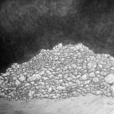 Gypsum Pile, near Beatty, Nevada