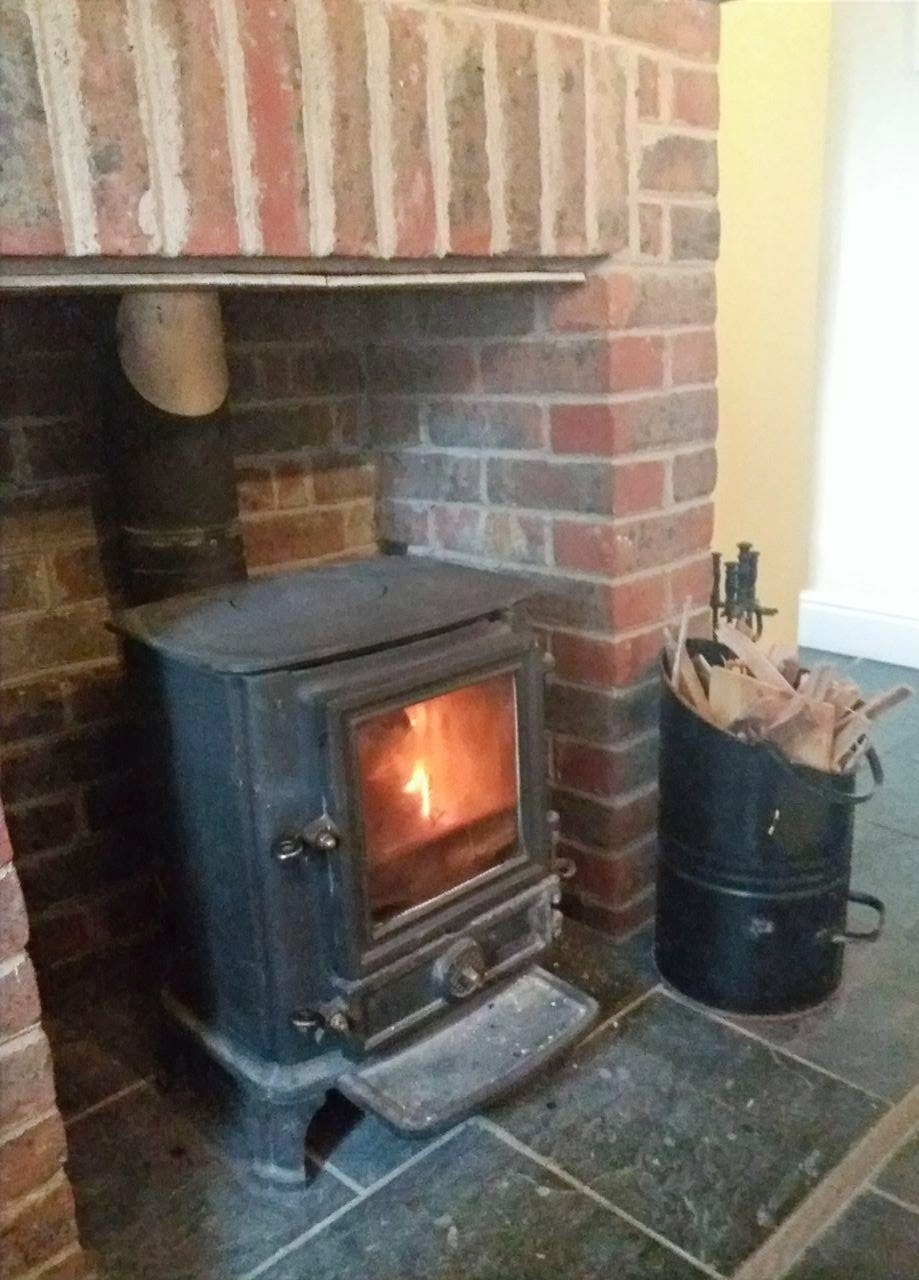 Wood-burning stove in Sitting Room