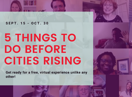 5 Things You Need To Do Before The Cities Rising Summit