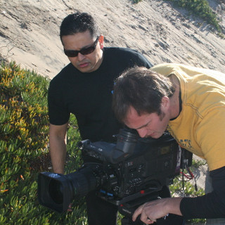 Director and DP set the shot up