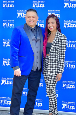 Producer RR with Writer/Director Alanna Brown (Trees Of Peace) at SBIFF