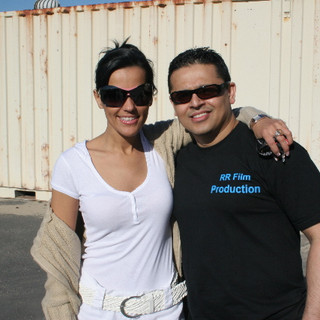 Actress Elizabeth Bress with Director RR