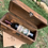 Thumbnail: Wine Box Single Bottle with Turquoise Accent