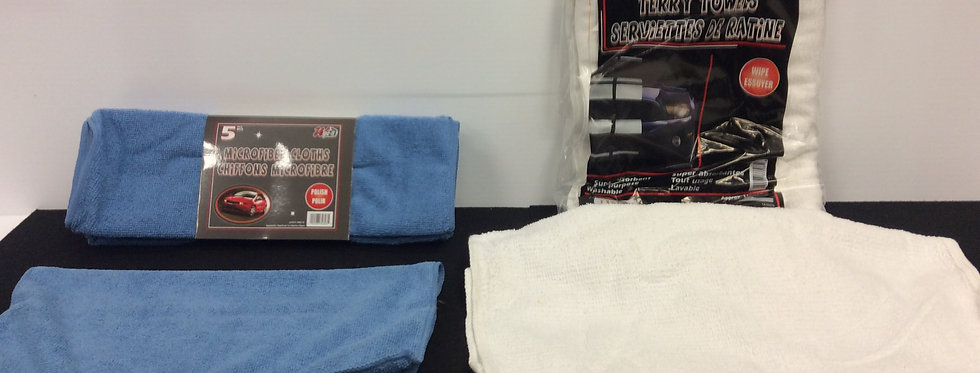 Microfiber Wipes and Terry Towels