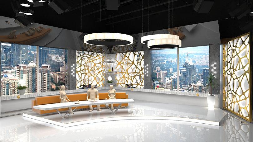 TV Set design, Branding, Channel 31, Kazakhstan