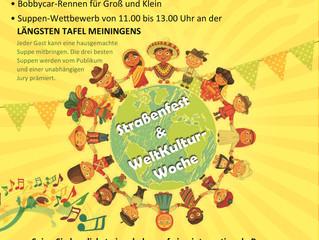 Eröffnung der Weltkultur Woche und Straßenfest in Meiningen