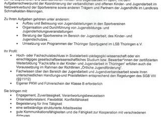 Stellenausschreibung Sportjugend-Koordinator*in