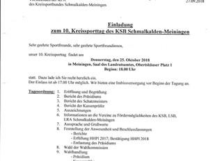 10. Kreissporttag am 25.10.2018 in Meiningen