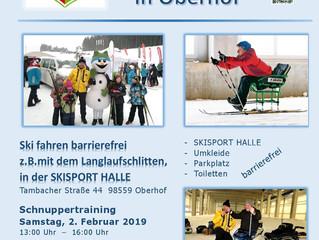 Wintersport barrierefrei - Angebot des WSV Oberhof