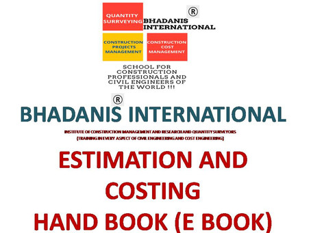 ESTIMATION AND COSTING E BOOK PDF DOWNLOAD