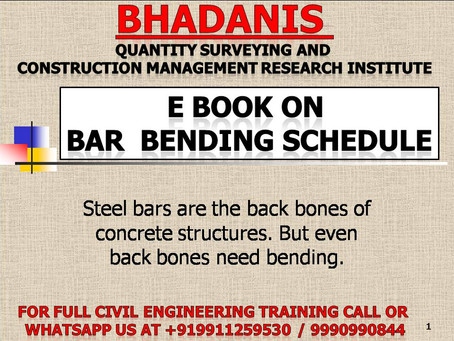 E BOOK ON BAR BENDING SCHEDULE (BBS) FOR CONSTRUCTION PROFESSIONALS KNOWLEDGE ENHANCEMENT