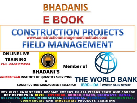 BHADANIS EBOOK ON CONSTRUCTION PROJECTS FIELD MANAGEMENT