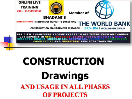 TYPES OF DRAWINGS USED FOR CONSTRUCTION PROJECTS