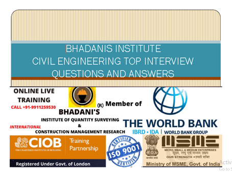 BHADANIS CIVIL ENGINEER INTERVIEW QUESTIONS AND ANSWERS IMPORTANT THINGS EVERY FOR EVERY CIVIL ENG