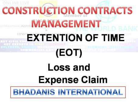 EBOOK ON CONSTRUCTION CONTRACTS MANAGEMENT OF EXTENSION OF TIME CLAIM AND OTHER LOSS PDF
