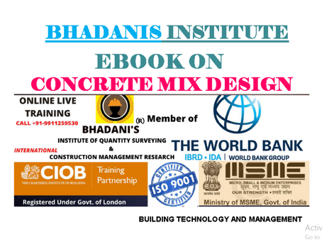 EBOOK ON CONCRETE MIX DESIGN FOR CIVIL ENGINEERS QUALITY ENGINEERS CONSTRUCTION QUALITY ENGINEERS