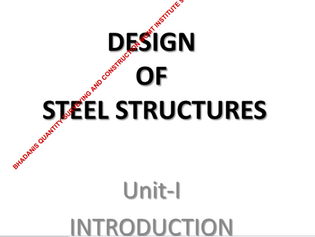 SHORT NOTES ON DESIGN OF STEEL STRUCTURE PDF EBOOK DOWNLOAD FREE