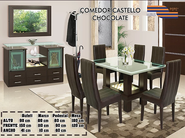 Comedor Castello chocolate