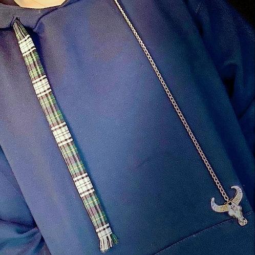 Caly Paris - Cordons asymétriques : écossais chaîne tête de taureau