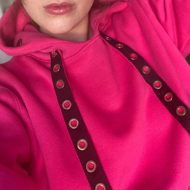 Sweatshirt rose Cordons Window