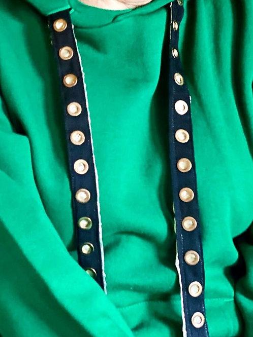 Caly Paris - Cordons pour sweatshirt fourreau lamé doré