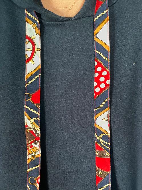 Caly Paris - Cordons ruban imprimé rouge