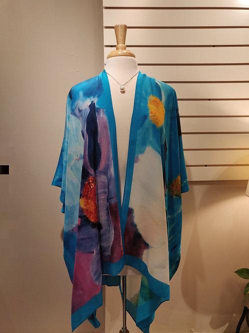 100%silk kimono,one size fits all