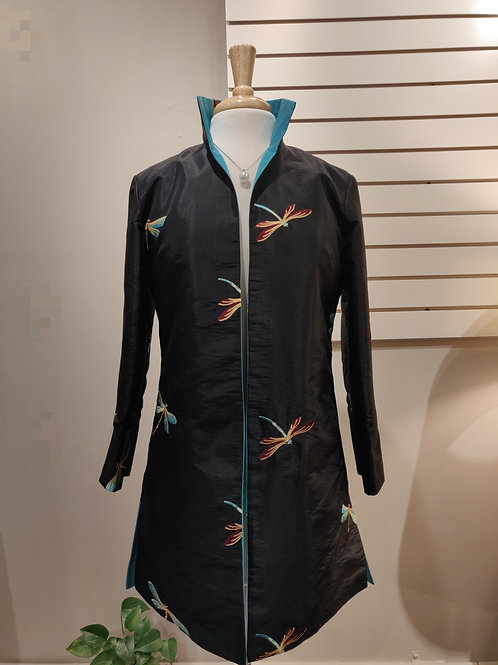 1417 reversible dragonfly turquoise/black