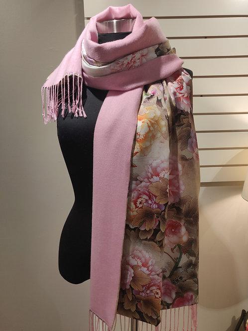 Silk scarf/wrap, revrrsible