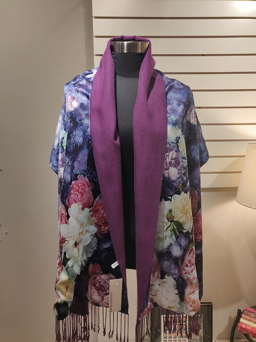 Silk scarf /wrap ,reversible