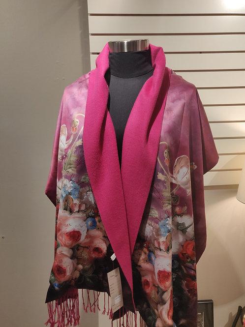 Silk scarf/wrap, reversible