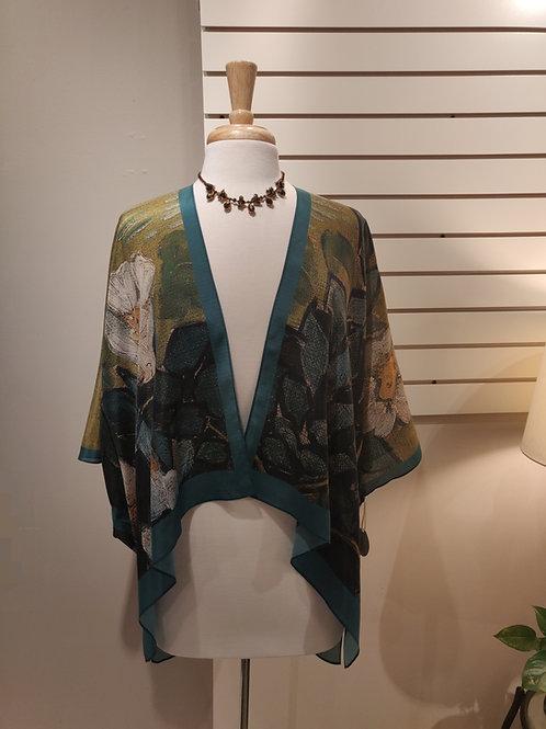 100% silk kimono,one size fits all