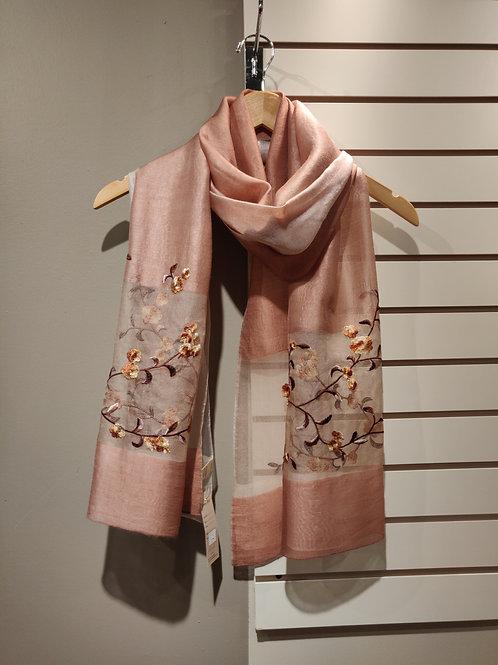 Silk scarf salmon