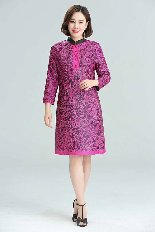 Mandrin collar dress