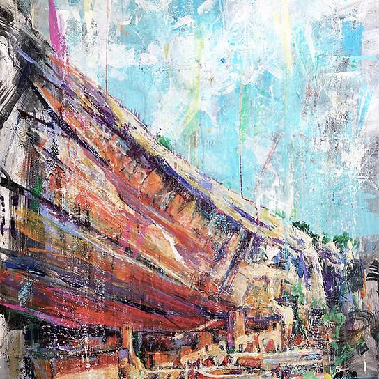 Journey Through the Dwellings . 48x28 . acrylic