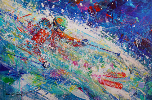 Powder Splash . 24 x 36 . acrylic