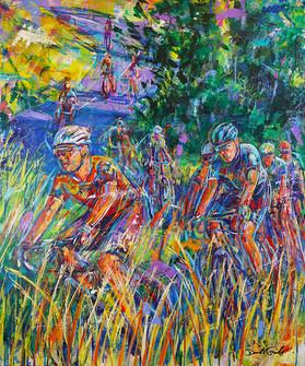 Through Tall Grasses . 40 x 30 . acrylic