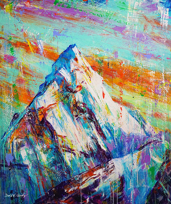 "29x25 ""Everest"" fine art print on metal"