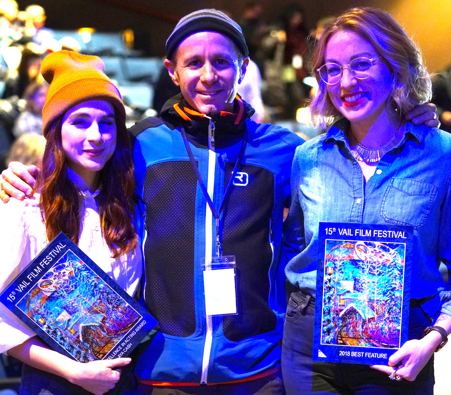 With actress Aya Cash and film director Molly McGlynn at the Vail Film Festival