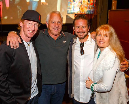 With Warren Miller film star and educator Chris Anthony, Tour de France Legend Greg LeMond and my wife, Deborah