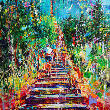 INCLINE IT 36x24 acrylic $3,300 sold